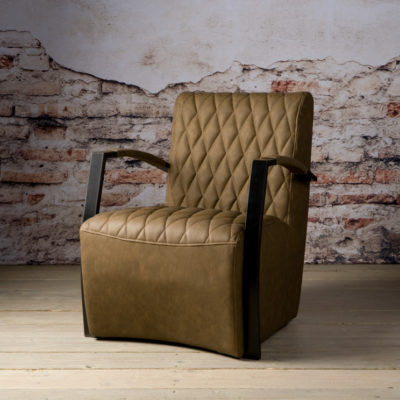 Tower Living Fauteuil 'León' - brown